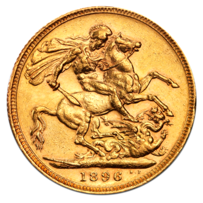 Queen Victoria Old Head Gold Sovereign (1893-1901)(Back)