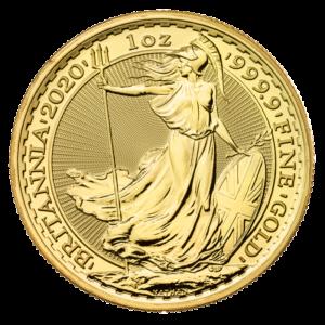 1 oz Britannia Gold Coin (2020)(Front)