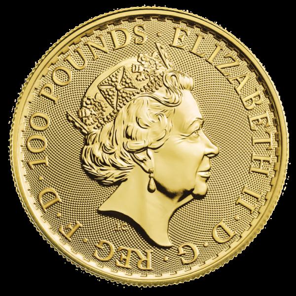 1 oz Britannia Gold Coin (2020)(Back)