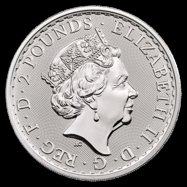 1 oz Britannia Silver Coin (2020)(Back)