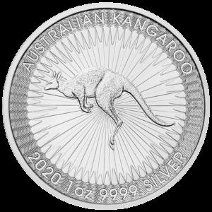 1 oz Kangaroo Silver Coin (2020)(Front)