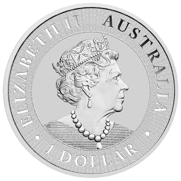 1 oz Kangaroo Silver Coin (2020)(Back)
