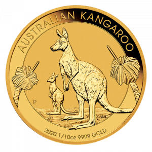 1/10 oz Nugget Kangaroo 2020 Gold Coin(Front)
