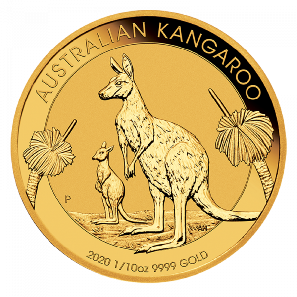 1/10 oz Nugget Kangaroo 2020 Gold Coin(Front)