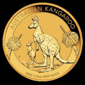 1/2 oz Nugget Kangaroo 2020 Gold Coin(Front)