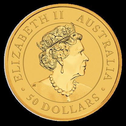 1/2 oz Nugget Kangaroo 2020 Gold Coin(Back)