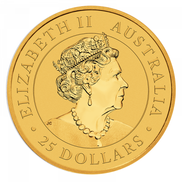 1/4 oz Nugget Kangaroo 2020 Gold Coin(Back)