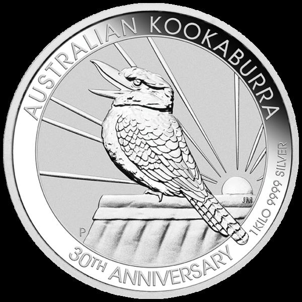 1 Kilo Kookaburra Silver Coin (2020)(Front)