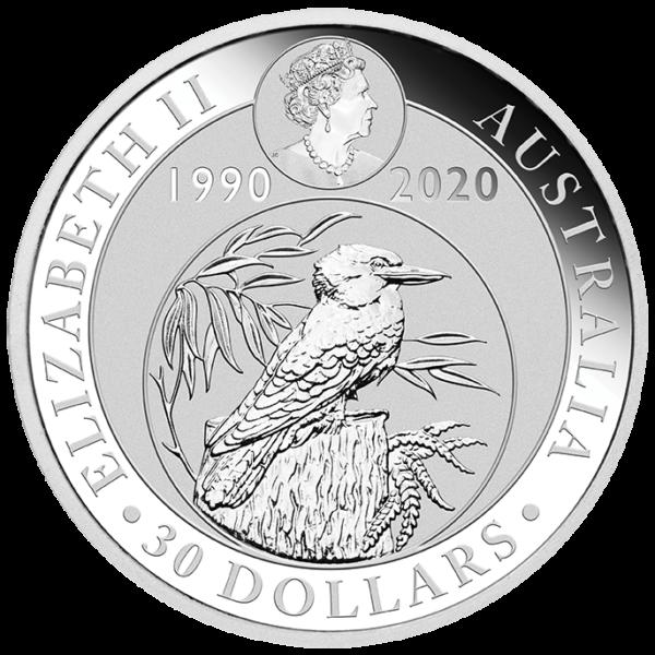 1 Kilo Kookaburra Silver Coin (2020)(Back)