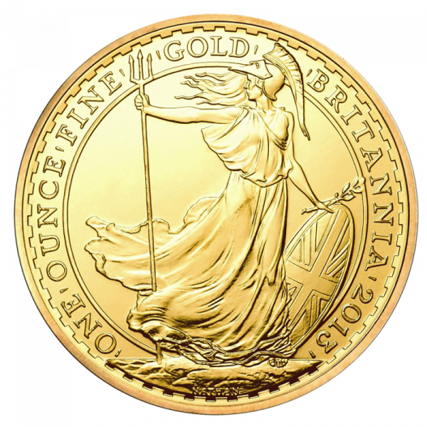 Britannia, 100 Pounds, 1oz Gold, mixed years(Front)