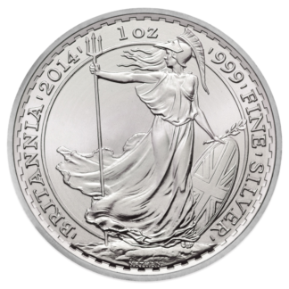 1 oz Silver Britannia (mixed years)(Front)