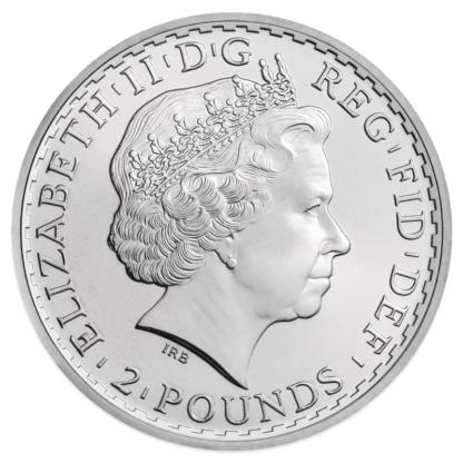1 oz Silver Britannia (mixed years)(Back)