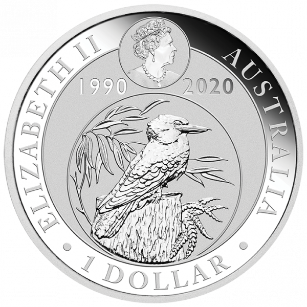 1 oz Kookaburra Silver Coin (2020)(Back)