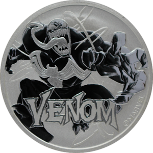 1 oz Marvel's Venom Silver Coin (2020)(Front)