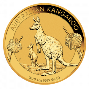 1 oz Nugget Kangaroo 2020 Gold Coin(Front)