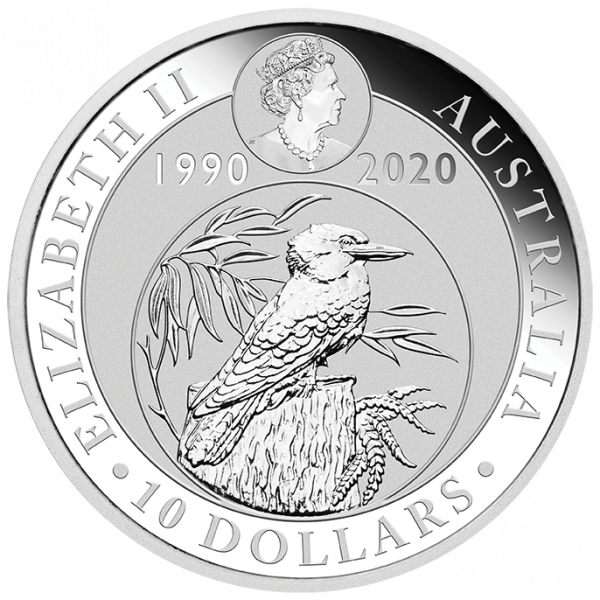 10 oz Kookaburra Silver Coin (2020)(Back)