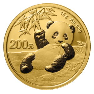 15g China Panda 2020 Gold Coin(Front)