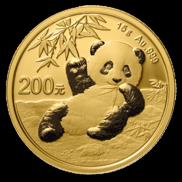 15g China Panda 2020 Gold Coin(Front)