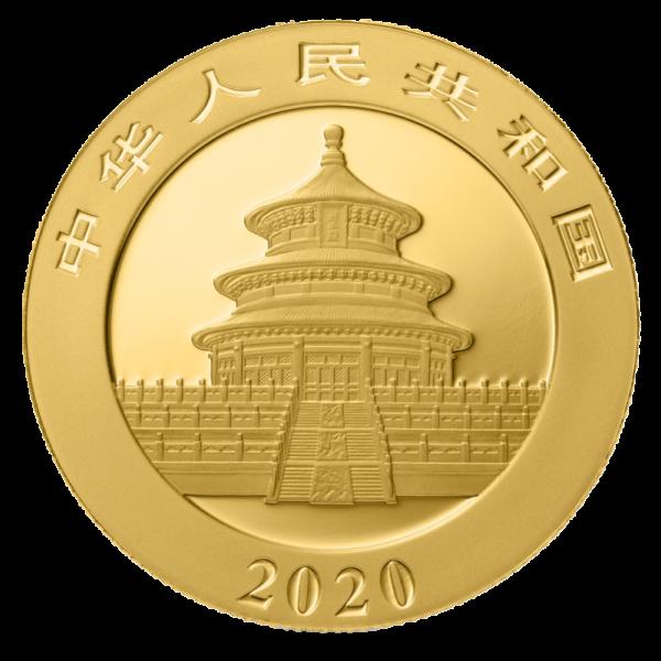 15g China Panda 2020 Gold Coin(Back)
