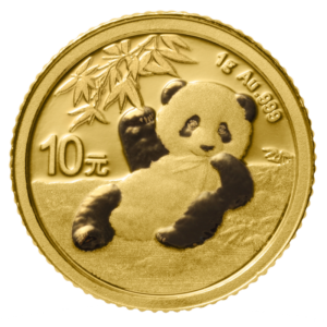 1g China Panda 2020 Gold Coin(Front)