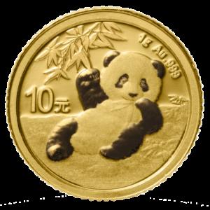 1g China Panda 2020 Gold Coin(Front)