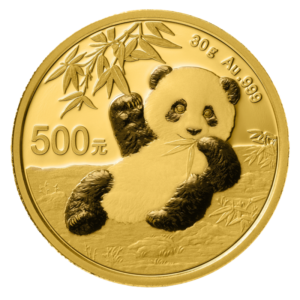 30g China Panda 2020 Gold Coin(Front)