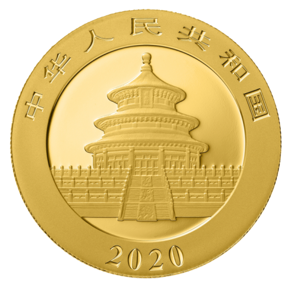 30g China Panda 2020 Gold Coin(Back)