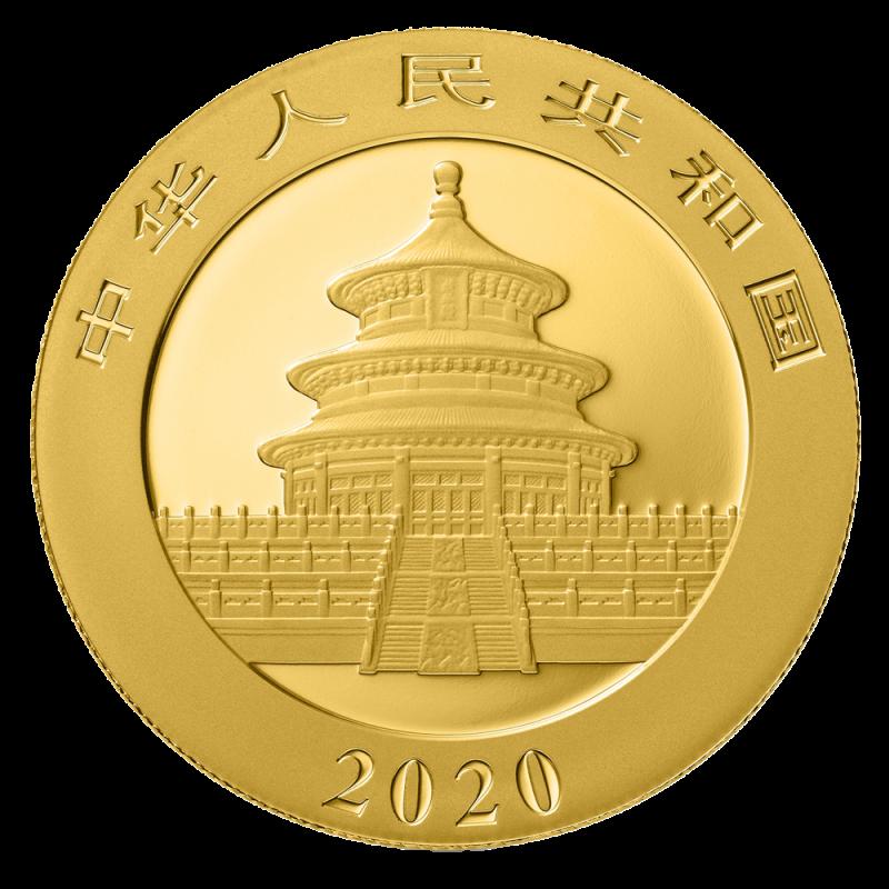30g China Panda 2020 Gold Coin Bitgild