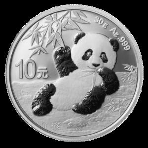 30g China Panda 2020 Silver Coin(Front)