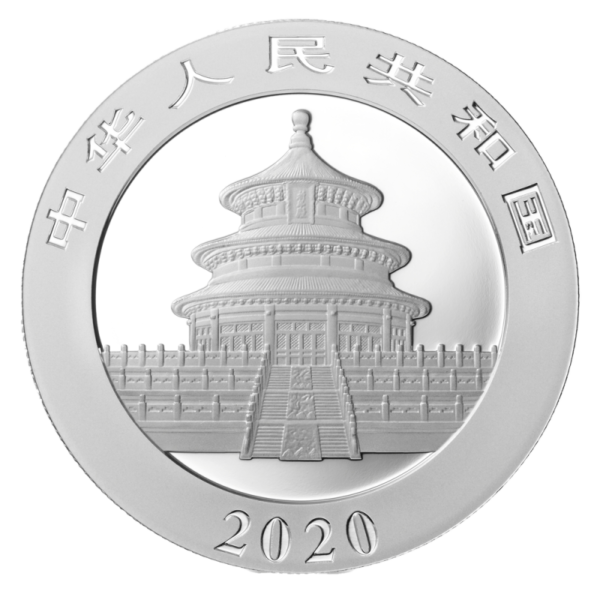 30g China Panda 2020 Silver Coin(Back)