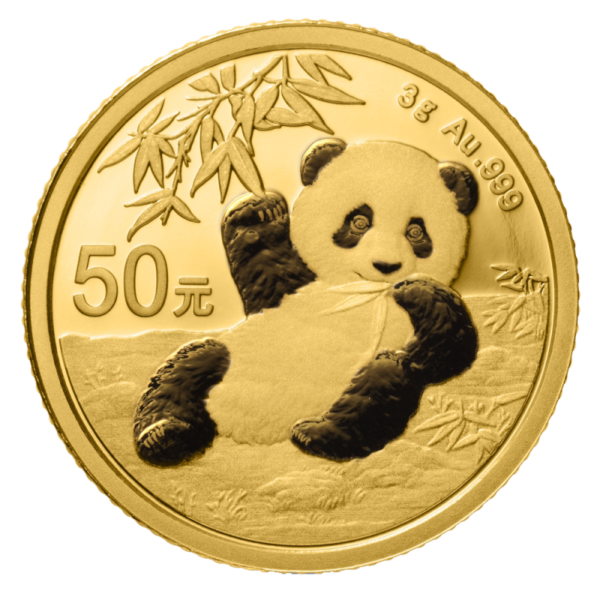 3g China Panda 2020 Gold Coin(Front)