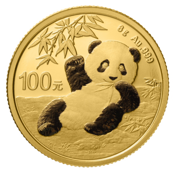 8g China Panda 2020 Gold Coin(Front)