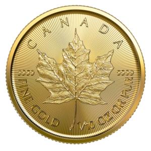 1/10 oz Maple Leaf 2020 Gold Coin(Front)