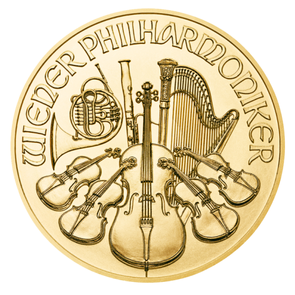 1/10 oz Vienna Philharmonic 2020 Gold Coin(Front)