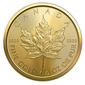 1/2 oz Maple Leaf 2020 Gold Coin(Front)