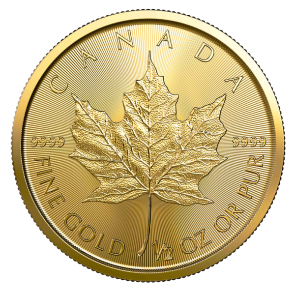 1/20 oz Maple Leaf 2020 Gold Coin(Front)