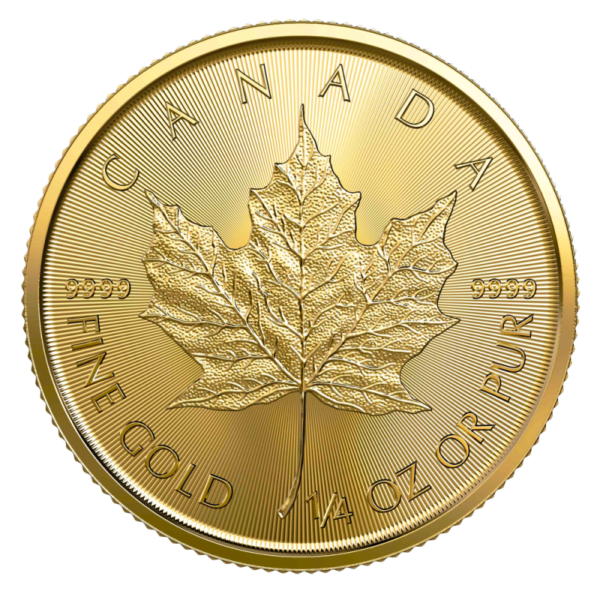 1/4 oz Maple Leaf 2020 Gold Coin(Front)