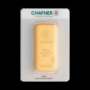1 Kilo Hafner Gold Bar | C.Hafner(Front)