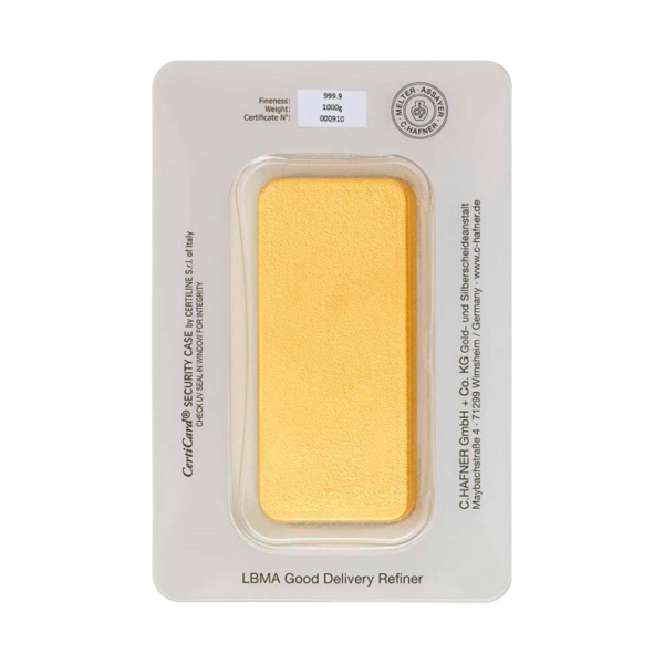 1 Kilo Hafner Gold Bar | C.Hafner(Back)