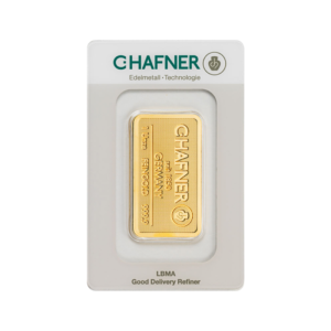 1 oz Hafner Gold Bar | C.Hafner(Front)
