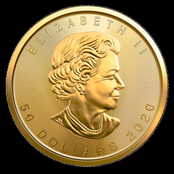 1 oz Maple Leaf 2020 Gold Coin(Back)