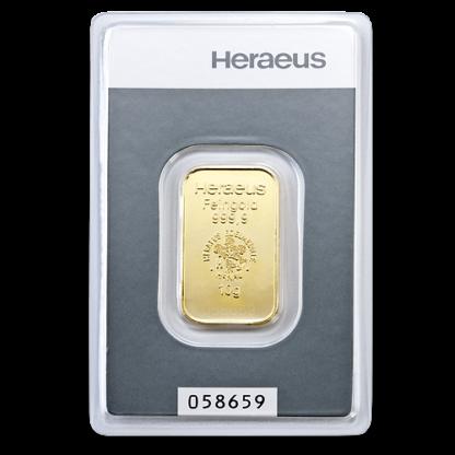 10g Argor Heraeus Gold Bar(Front)