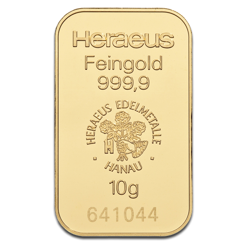 10g Argor Heraeus Gold Bar(Back)