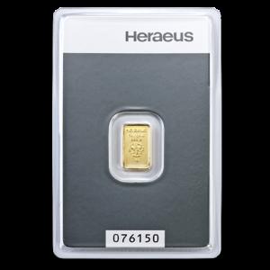1g Argor Heraeus Gold Bar(Front)