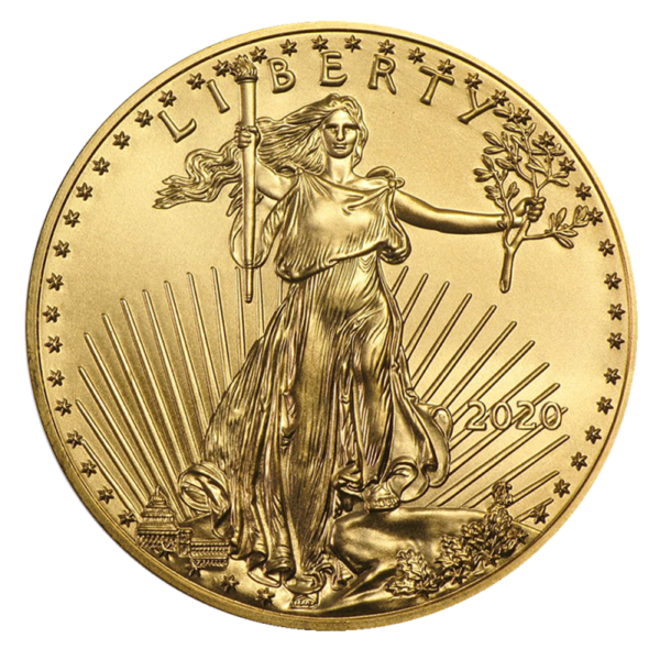 1/2 oz American Eagle Gold Coin 2020(Front)