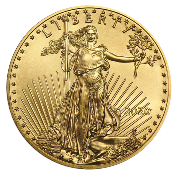 1/4 oz American Eagle Gold Coin 2020(Front)
