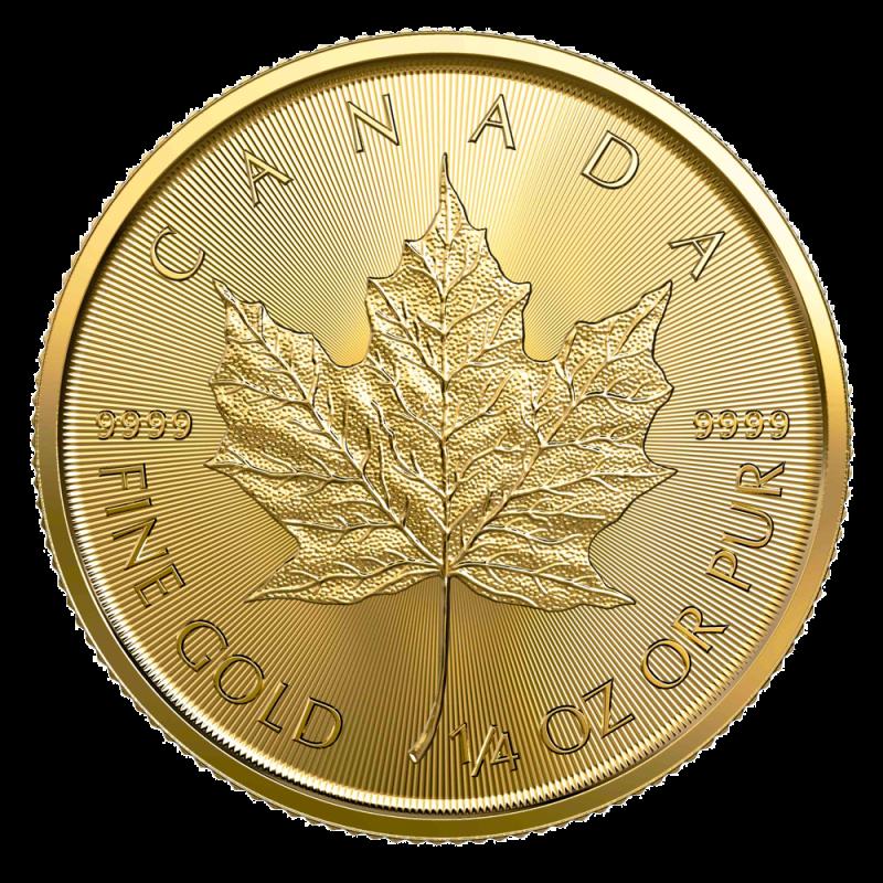 1 4 Oz Maple Leaf 2020 Gold Coin Bitgild