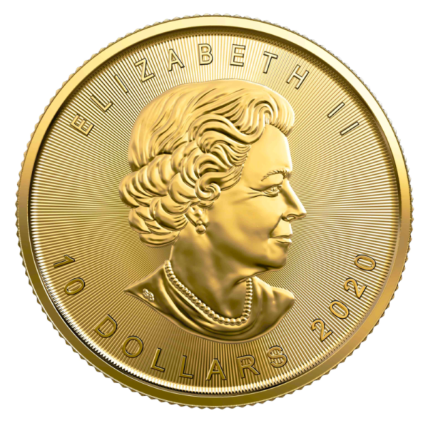 1/4 oz Maple Leaf 2020 Gold Coin(Back)