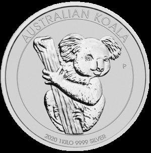 1 Kilo Koala Silver Coin (2020)(Front)