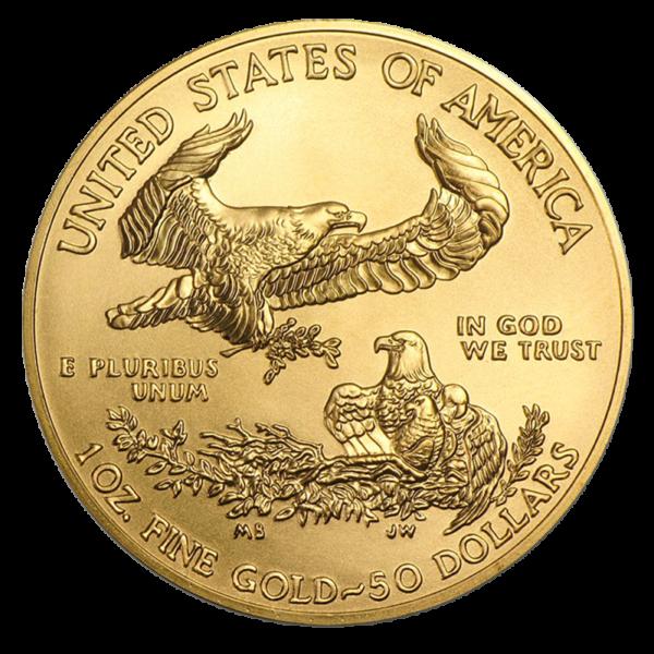 1 oz American Eagle Gold Coin 2020(Back)